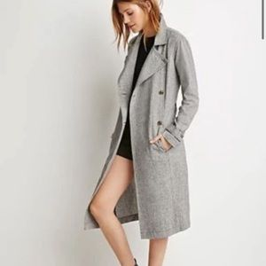 M Linen/cotton Houndstooth light trench
